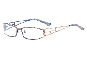 Black/orange,Fullrim,Rectangle,Metal alloy eyeglasses - Z16C30047C2
