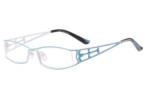 White/blue,Fullrim,Rectangle,Metal alloy eyeglasses - Z16C30047C3