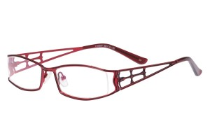 Red,Fullrim,Rectangle,Metal alloy eyeglasses - Z16C30047C5
