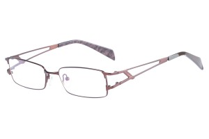 Brown,Fullrim,Rectangle,Metal alloy eyeglasses - Z16CR1149-BR