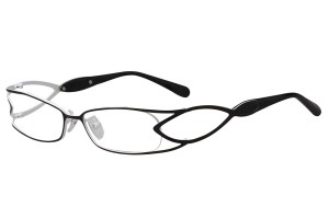 Black/white,Fullrim,Rectangle,Metal alloy eyeglasses - Z16CR1178-BKW