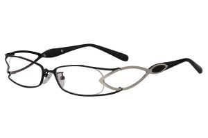 Black/metallic,Fullrim,Rectangle,Metal alloy eyeglasses - Z16SK1178-BKM