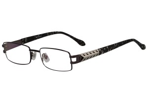 Metallic,Fullrim,Rectangle,Metal alloy eyeglasses - Z18B6433C3