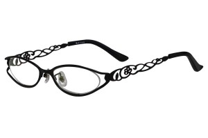 Black,Fullrim,Oval,Metal alloy eyeglasses - Z18B6455C8