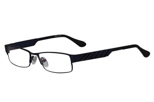 Blue,Fullrim,Rectangle,Metal alloy eyeglasses - Z18B6456C13