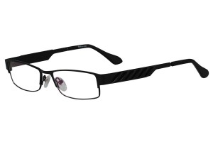 Black,Fullrim,Rectangle,Metal alloy eyeglasses - Z18B6456C8