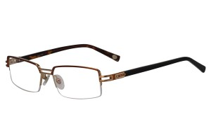 Golden,Semirim,Halfrim,SemiRimless,Rectangle,Metal alloy eyeglasses - Z18G80031C1