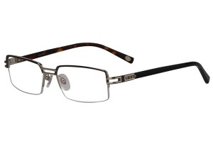 Metallic,Semirim,Halfrim,SemiRimless,Rectangle,Metal alloy eyeglasses - Z18G80031C3