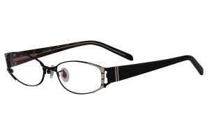 Black,Fullrim,Oval,Metal alloy eyeglasses - Z18G80095C8