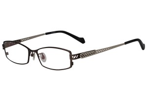 Metallic,Fullrim,Rectangle,Metal alloy eyeglasses - Z18G80102C3