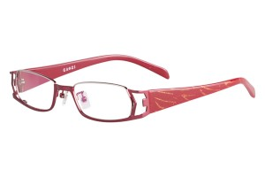 Red,Fullrim,Rectangle,Metal alloy eyeglasses - Z18G80117C11