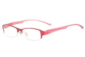 Red,Semirim,Halfrim,SemiRimless,Rectangle,Aluminium alloy eyeglasses - Z18G80158C11