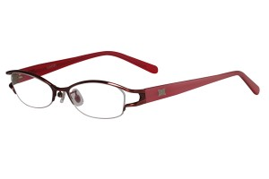 Red,Semirim,Halfrim,SemiRimless,Oval,Metal alloy eyeglasses - Z18G80163C11