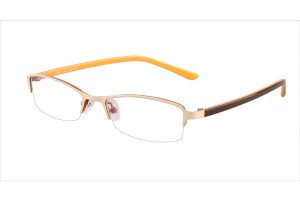 White/orange,Semirim,Halfrim,SemiRimless,Rectangle,Metal alloy eyeglasses - Z346982-WO