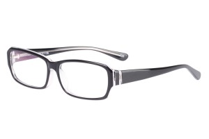 Black/clear,Fullrim,Rectangle,Acetate eyeglasses - Z52H116C25