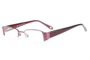 Purple,Semirim,Halfrim,SemiRimless,Rectangle,Metal alloy eyeglasses - Z62QB1134C100