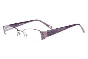 Burgandy,Semirim,Halfrim,SemiRimless,Rectangle,Metal alloy eyeglasses - Z62QB1134C87
