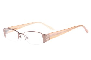 Brown,Semirim,Halfrim,SemiRimless,Rectangle,Metal alloy eyeglasses - Z62QB1134C88