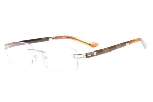 Golden/brown,Rimless,Rectangle,Metal alloy eyeglasses - Z632008C110
