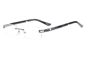Blue/black,Rimless,Rectangle,Metal alloy eyeglasses - Z632008C8