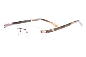 Brown,Rimless,Rectangle,Metal alloy eyeglasses - Z632008C9