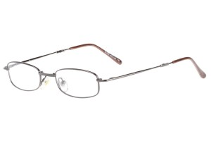 Metallic,Fullrim,Rectangle,Metal alloy eyeglasses,fold-able frame - Z64E108-M