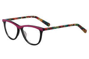 Black/colorful,Fullrim,Cat eye,Acetate eyeglasses - Z66840C2