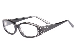 Black,Fullrim,Cat eye,Acetate eyeglasses - Z66R3202C1