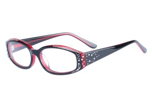 Red,Fullrim,Cat eye,Acetate eyeglasses - Z66R3202C3