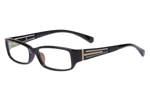Black/golden,Fullrim,Rectangle,Acetate eyeglasses - Z66S1023C1