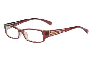 Brown/golden,Fullrim,Rectangle,Acetate eyeglasses - Z66S1023C42
