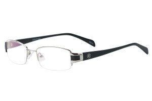 Silver,Semirim,Halfrim,SemiRimless,Rectangle,Metal alloy eyeglasses - Z791891C2