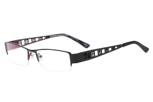 Black,Semirim,Halfrim,SemiRimless,Rectangle,Metal alloy eyeglasses - Z791919C8