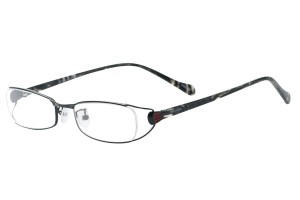 Black,Fullrim,Oval,Metal alloy eyeglasses - Z792180C15