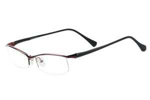 Red,Semirim,Halfrim,SemiRimless,Rectangle,Metal alloy eyeglasses - Z792212C80