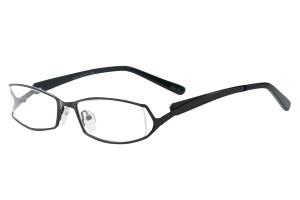 Black,Fullrim,Rectangle,Metal alloy eyeglasses - Z792697C15