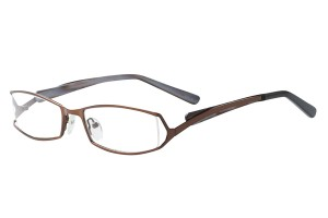 Brown,Fullrim,Rectangle,Metal alloy eyeglasses - Z792697C3