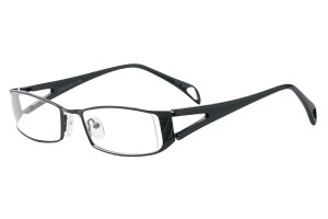 Black,Fullrim,Rectangle,Metal alloy eyeglasses - Z792743C15