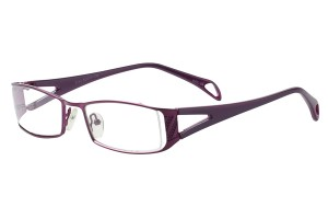 Purple,Fullrim,Rectangle,Metal alloy eyeglasses - Z792743C34