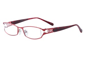 Red,Fullrim,Rectangle,Metal alloy eyeglasses - Z792855C80