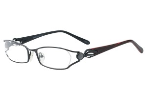 Black,Fullrim,Oval,Metal alloy eyeglasses - Z792866C15
