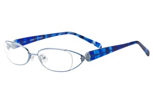 Blue,Fullrim,Oval,Metal alloy eyeglasses - Z792915C14
