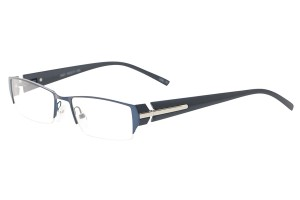 Blue,Semirim,Halfrim,SemiRimless,Rectangle,Metal alloy eyeglasses - Z792921C13
