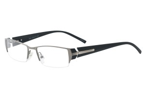 Metallic ,Semirim,Halfrim,SemiRimless,Rectangle,Metal alloy eyeglasses - Z792921C5