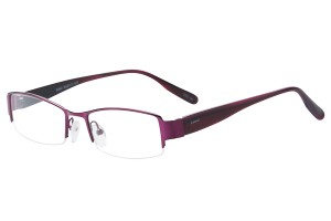Purple,Semirim,Halfrim,SemiRimless,Rectangle,Metal alloy eyeglasses - Z793042C34