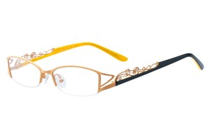 Yellow,Semirim,Halfrim,SemiRimless,Rectangle,Metal alloy eyeglasses - Z793166C45