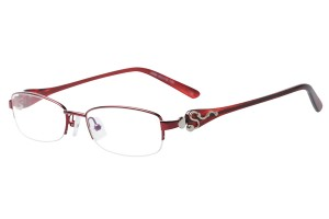 Red,Semirim,Halfrim,SemiRimless,Oval,Metal alloy eyeglasses - Z793492C8