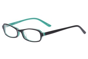 Black/green,Fullrim,Oval,Acetate eyeglasses - Z803002C3