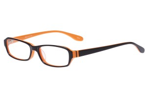 Black/orange,Fullrim,Rectangle,Acetate eyeglasses - Z803003C3