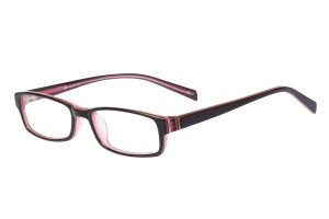 Black/pink,Fullrim,Rectangle,Acetate eyeglasses - Z803004C3